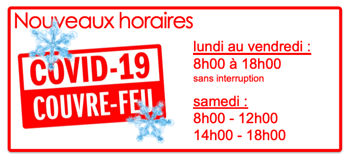 Horaires Covid